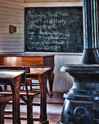 Photograph - Stoney Point School Room by Lana Trussell