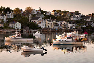Stonington Harbor Art Print by Patrick Downey