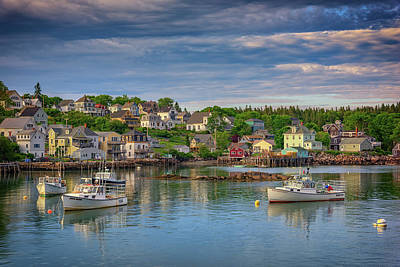 New England Village Photograph - Stonington Harbor by Rick Berk