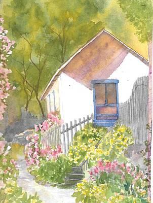Painting - Stonington Maine Back Porch  by Roseann Meserve