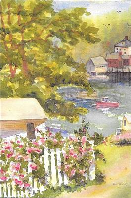 Painting - Stonington Maine View  by Roseann Meserve