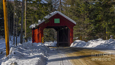 Photograph - Stony Brook Covered Bridge by Scenic Vermont Photography