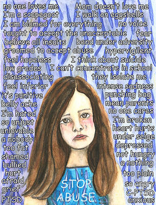 Mixed Media - Stop Abuse by Lise Winne