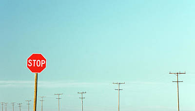 Photograph - Stop And Poles by Todd Klassy