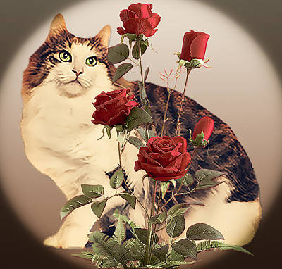 Wall Art - Digital Art - Stop And Smell The Roses by Cynthia Leaphart