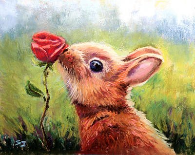 Pastel - Stop And Smell The Roses by Susan Jenkins