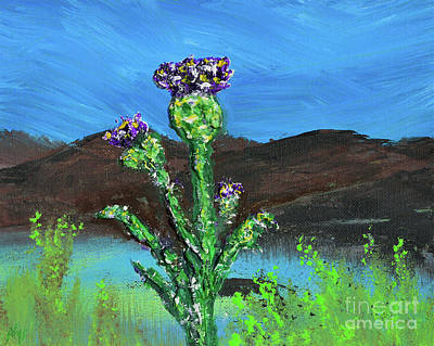 Painting - Stop And Smell The Thistle Or Lighten Up Macbeth by Alys Caviness-Gober