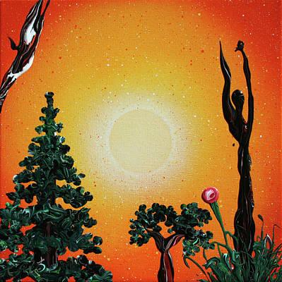 Painting - Stop Asking, Start Seeking by Ric Bascobert