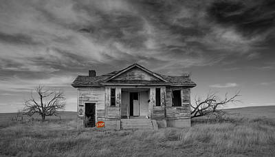 Stop At The Pawnee Valley School And Watch The Clouds Roll By Art Print