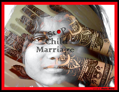 Travel Rights Managed Images - Stop Child Marriage Royalty-Free Image by Bliss Of Art