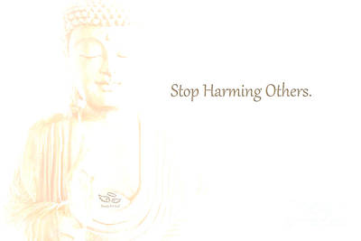 Stop Harming Others Art Print