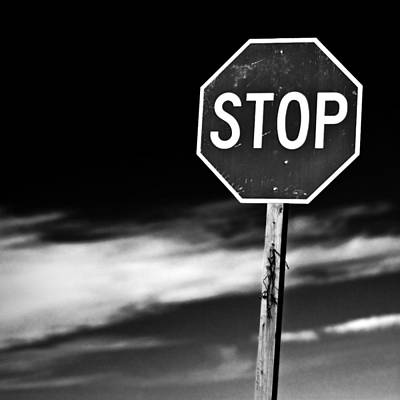 White Photograph - Stop by James Bull