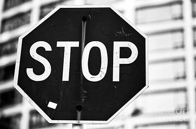 Stop Sign Photograph - Stop by John Rizzuto
