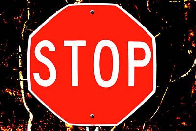 Stop Art Print by Karol Livote