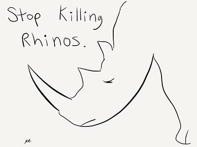 Digital Art - Stop Killing The Rhinos by Stacy C Bottoms