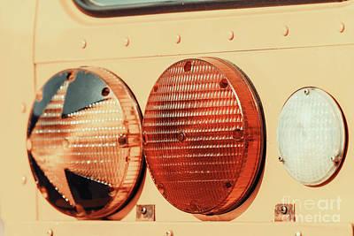 Stop Lights On American School Bus Art Print by Radu Bercan
