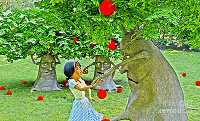 Digital Art - Stop Picking My Apples by Methune Hively