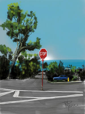 Stop Sign Digital Art - Stop by Russell Pierce