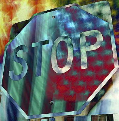 Stop Sign Photograph - Stop Sign by Skip Nall