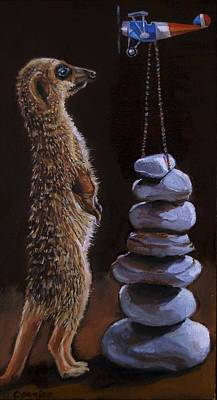 Painting - Stop Stone Stacking by Jean Cormier
