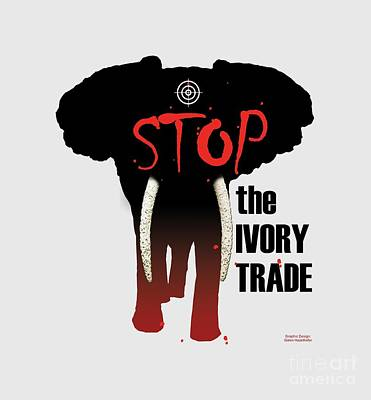 Poaching Painting - Stop The Ivory Trade by Galen Hazelhofer
