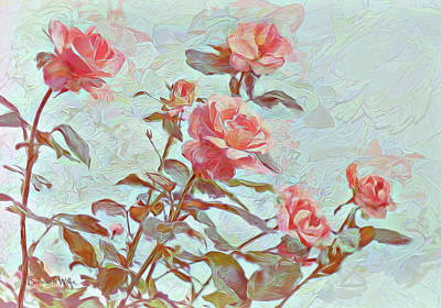 Digital Art - Stop To Smell The Roses by Bonnie Willis
