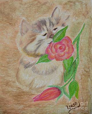 Pastel - Stop To Smell The Roses by Maria Urso