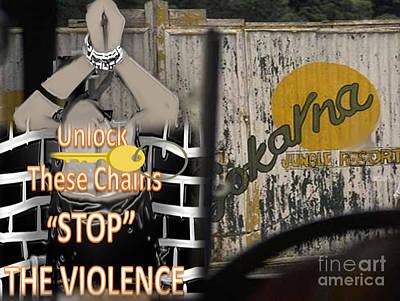 Drawing - Stop Violence by Belinda Threeths