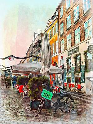 Photograph - Stopped For A Coffee Copenhagen by Dorothy Berry-Lound