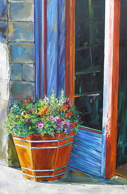 Stopping At An Entryway Art Print by Karen Doyle