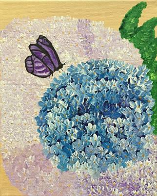 Hydrangea Painting - Stopping Over by Kim Mlyniec