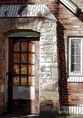 Storage Door Art Print by Steve Augustin