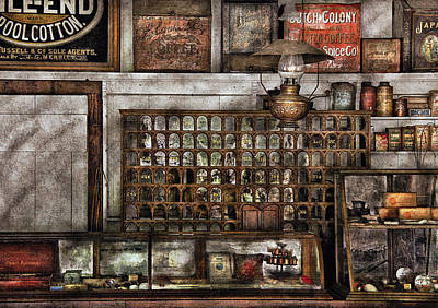 Store - For All Of Your Needs And Supplies Art Print by Mike Savad