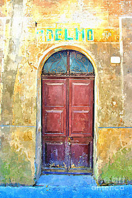 Painting - Store Door With Old Sign by Giuseppe Cocco