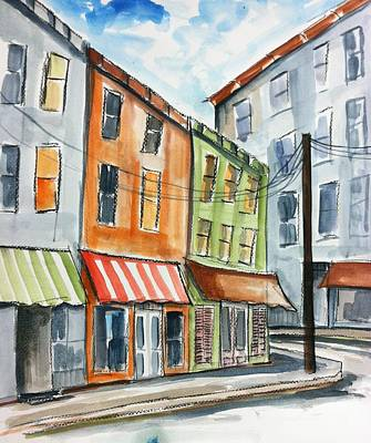 Old Store Front Painting - Store Fronts by Ken  Blacktop  Gentle