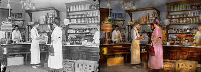 Photograph - Store - In A General Store 1917 Side By Side by Mike Savad
