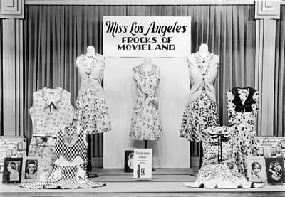 Photograph - Store Window Fashion Display by Underwood Archives