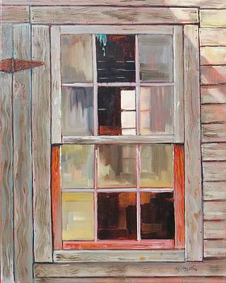 Mike Martin Painting - Store Window by Mike Martin