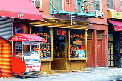 Photograph - Storefronts On Mulberry Street New York City by John Rizzuto