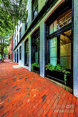 Storefronts With Flower Boxes In Shockoe Slip 7206vtvg1 Art Print