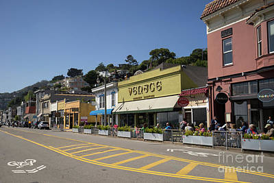 Photograph - Stores And Restaurants On Bridgeway Sausalito California Dsc6026 by Wingsdomain Art and Photography