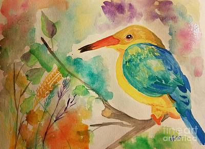 Painting - Stork Billed Kingfisher by Maria Urso