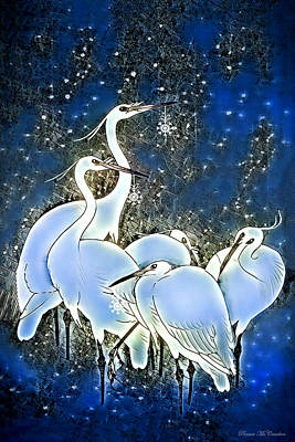 Digital Art - Stork's Christmas by Pennie McCracken