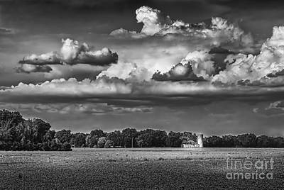 Chicken Photograph - Storm A Coming-bw by Marvin Spates