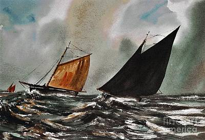 Painting - Storm Abrewing by Val Byrne
