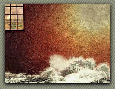 Storm Against The Walls Art Print