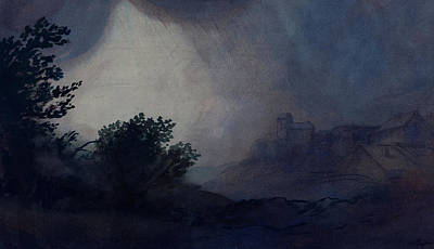 Painting - Storm by Alphonse Legros