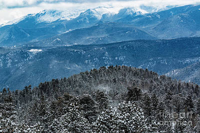 Photograph - Storm And Blowing Snow On Pikes Peak Colorado by Steve Krull
