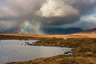 Photograph - Storm And Rainbow In Connemara by Pierre Leclerc Photography