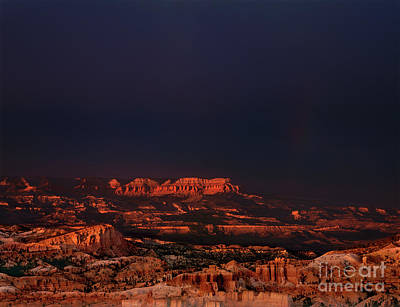 Photograph - Storm And Rainbow Over Hoodoos Bryce Canyon National Park Utah by Dave Welling